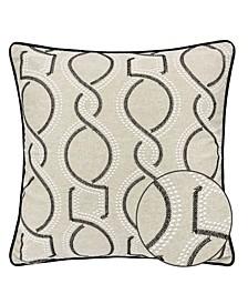 Mila Embroidery Square Decorative Throw Pillow