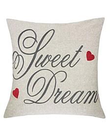 Tori Embroidered Linen Square Decorative Throw Pillow