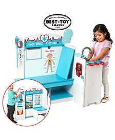 Melissa Doug Wooden Get Well Doctor Activity Center - Waiting Room, Exam Room, Check-In Area