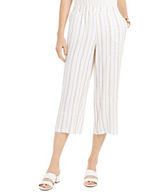 Striped Crinkle Pants, Created for Macy's