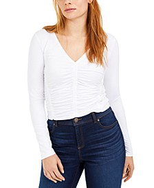 Ruched-Front V-Neck Top, Created For Macy's