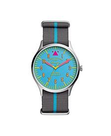 Mens Forrester Blue Multi Nylon Strap Watch 42MM