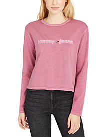 Tommy Jeans Logo Graphic Cropped Long-Sleeve T-Shirt