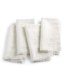 Textured White Napkins, Set of 4, Created for Macys