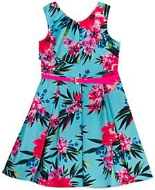 Toddler Girls Belted Floral Dress