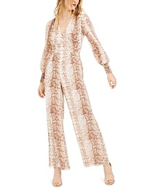 Snake-Print Jumpsuit, Created For Macy's