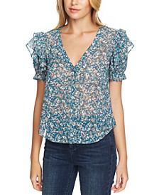 Woodland Floral Button-Up Top