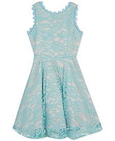 Big Girls Plus Scalloped Lace Fit & Flare Dress