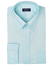 Men's Classic/Regular-Fit Performance Stretch Yarn-Dyed Pinpoint Dress Shirt, Created for Macy's