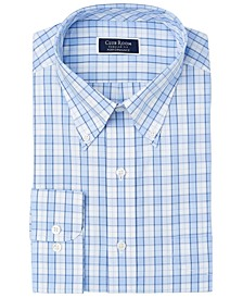 Men's Classic/Regular-Fit Performance Stretch Framed Gingham Check Dress Shirt, Created for Macy's