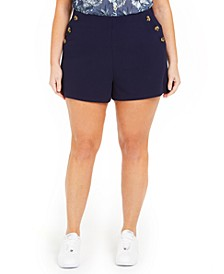 Trendy Plus Size Sailor Shorts