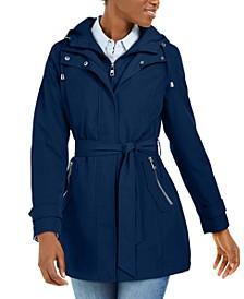Hooded Belted Raincoat
