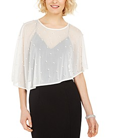 Imitation-Pearl Embellished Cape