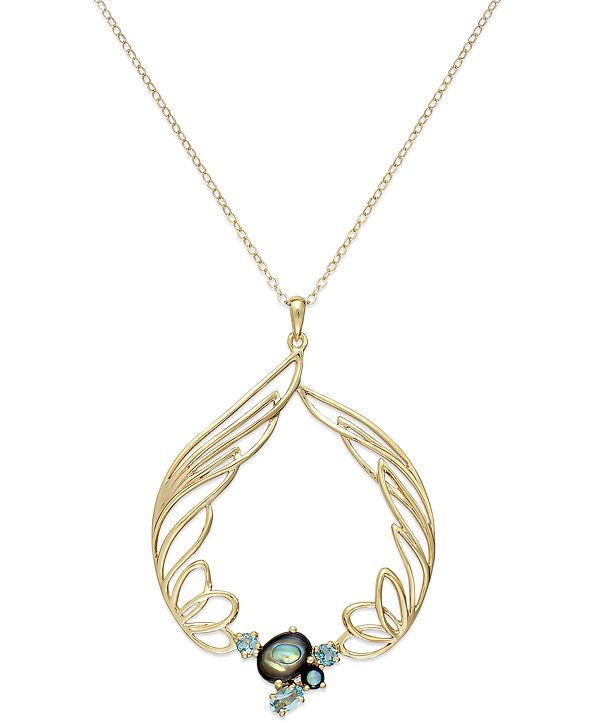 Simone I. Smith 18K Gold over Sterling Silver Necklace ...