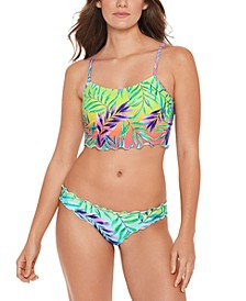 Juniors' Tropical Punch Printed Underwire Bikini Top, Available in D/DD & Hipster Bottoms,  Created for Macy's