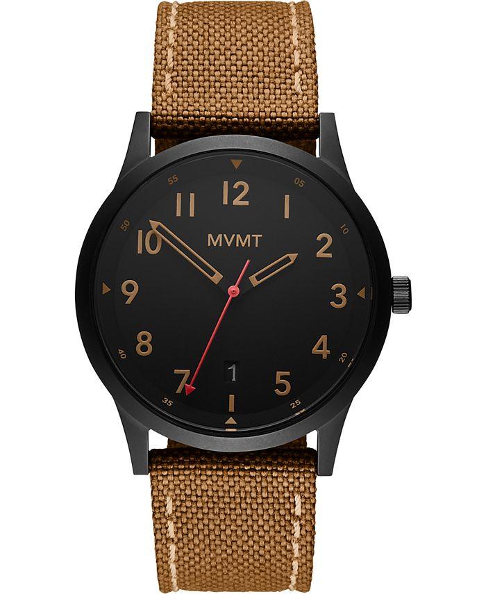 MVMT - Men's Field Tan Nylon Strap Watch 41mm