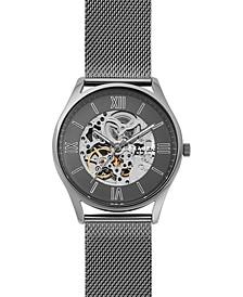 Men's Automatic Holst Gunmetal Stainless Steel Mesh Bracelet Watch 42mm