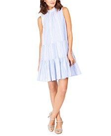 Striped Cotton Trapeze Dress