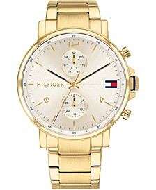 Men's Chronograph Gold-Tone Stainless Steel Bracelet Watch 44mm