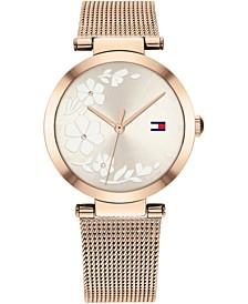Women's Carnation Gold-Tone Stainless Steel Mesh Bracelet Watch 32mm