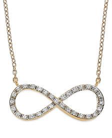 Diamond Infinity Pendant Necklace in (1/6 ct. t.w.)
