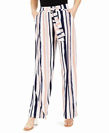 Striped Tie-Waist Pants, Created for Macy's