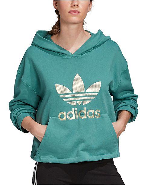 adidas Women's Cotton Embroidered-Logo Hoodie