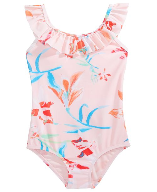 Ideology Toddler Girls Floral-Print One-Piece Swimsuit, Created For Macy's