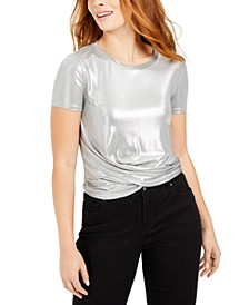 Metallic Twist-Hem Top, Created For Macy's