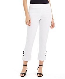 Lace-Up Tummy-Control Ankle Pants, Created For Macy's