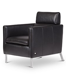 "Darrium 27"" Leather Club Chair, Created for Macy's"