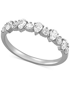 Diamond Pear-Cut Band (3/4 ct. t.w.) in 14k White Gold