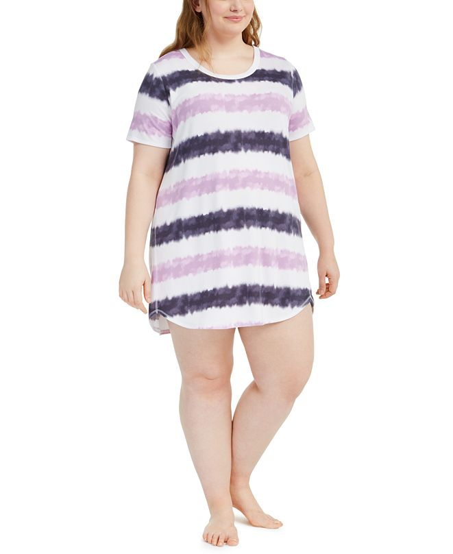 Jenni Plus Size Sleep Shirt Nightgown, Created for Macy's