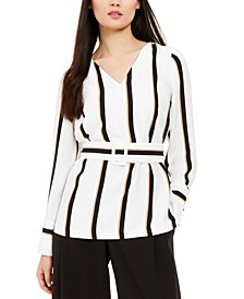 Striped Belted Top, Created For Macy's