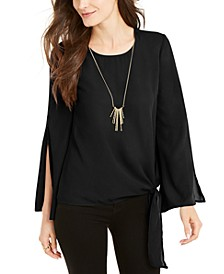 Tie-Side Split-Sleeve Top, Created for Macy's