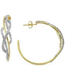 Diamond Hoop Earrings (1 ct. t.w.) in 10k Gold