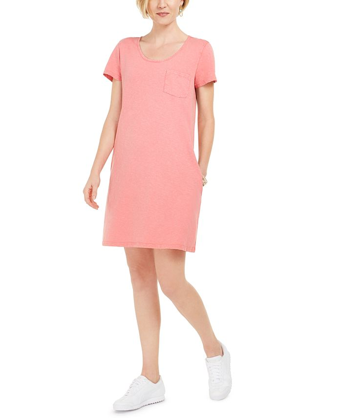 Style & Co - One-Pocket T-Shirt Dress