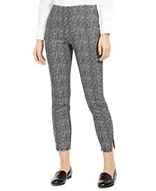 Tweed Fringe-Hem Ankle Pants, Created for Macy's