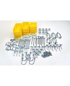DuraHook 95 Piece Hook Bin Assortment for Duraboard Pegboard 85 Asst Hooks 10 Asst Bins