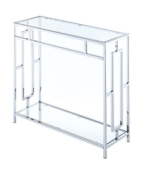 Convenience Concepts Town Square Chrome Hall Table