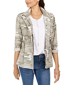 Camoflauge Twill Jacket, Created For Macy's