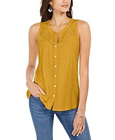 Button-Down Tank Top, Created for Macy's