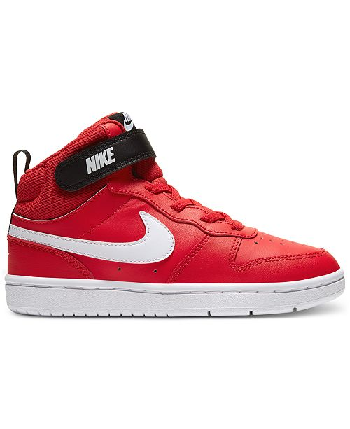 Nike Little Boys Court Borough Mid 2 Stay-Put Closure Casual Sneakers from Finish Line