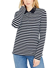 Small-Stripe Polo Shirt