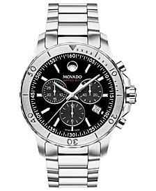 Movado Men's Swiss Series 800 Stainless Steel Bracelet Watch 42mm 2600110