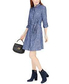 Tie-Waist Cotton Shirtdress