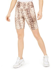 Bodycon Printed Biker Shorts, Created for Macy's