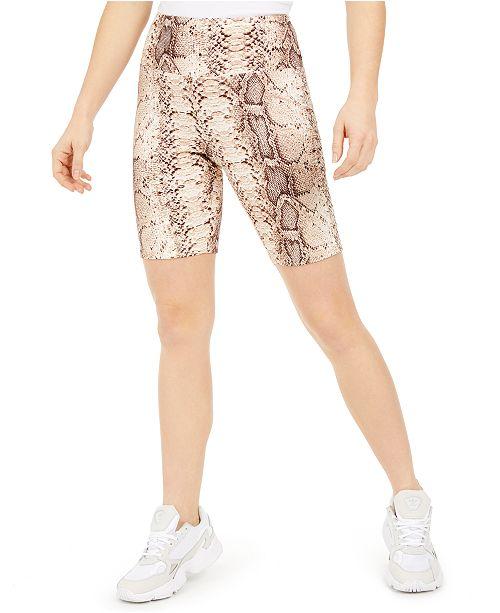 Bar III Bodycon Printed Biker Shorts, Created for Macy's
