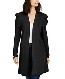 INC Puff-Sleeve Completer Cardigan, Created for Macy's