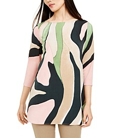 Printed 3/4-Sleeve Tunic, Created for Macy's